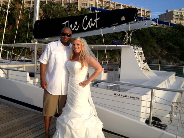 weddings in St. Thomas on the VI Catamaran