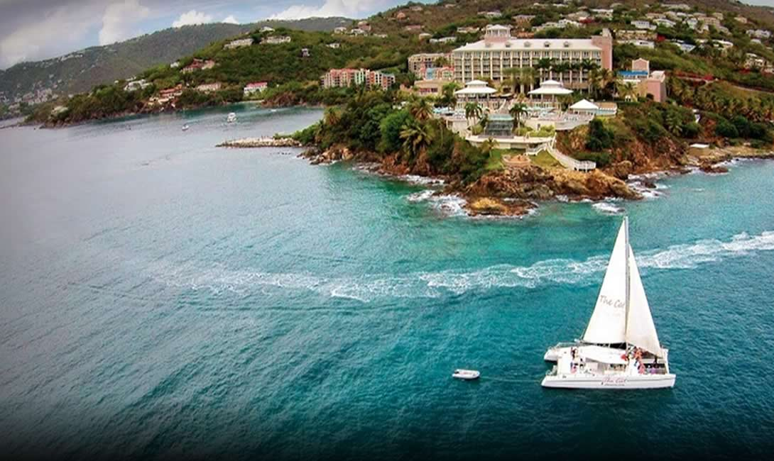 Catamaran Sailing Snorkeling Frenchmen's Reef St. Thomas USVI